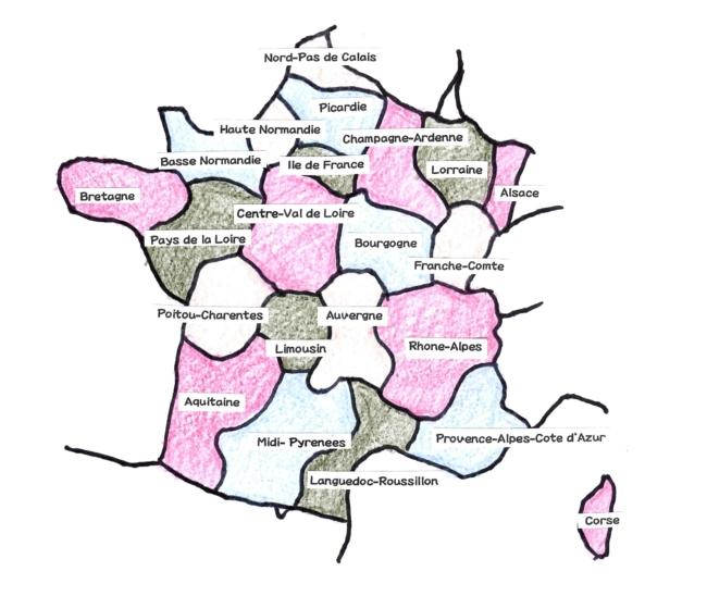 フランス地方図