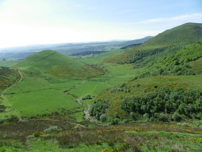 Auvergneの火山性丘陵