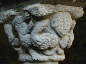 Lavaudieu 回廊 柱頭彫刻