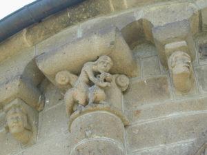 Ydes 柱頭彫刻