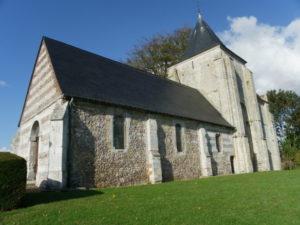 St.Jean d'Abbetot 教会堂側面
