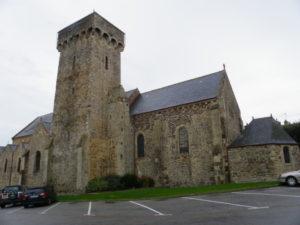 Barneville Carteret 教会堂側面