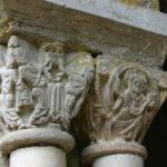 Marcilhac sur Celeの柱頭彫刻