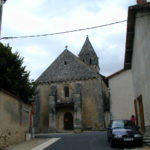 Civauxの教会堂正面