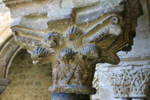 St.Lizierの柱頭彫刻