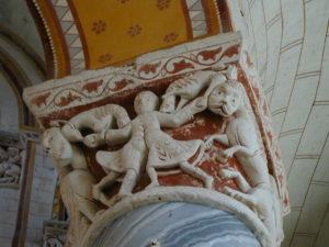 Chauvignyの柱頭彫刻