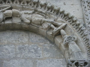 Corme Royalのファサード彫刻