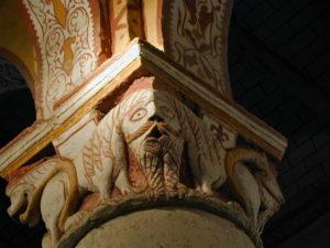 Civauxの柱頭彫刻