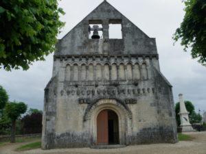 St.Quantin de Rancanneの教会堂正面