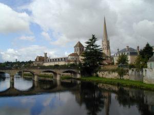 St.Savin sur Gartempeの全景