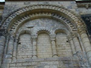 Villesalemの扉口彫刻