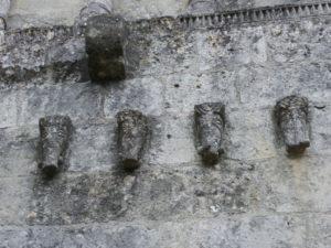 St.Quantin de Rancanneの扉口彫刻
