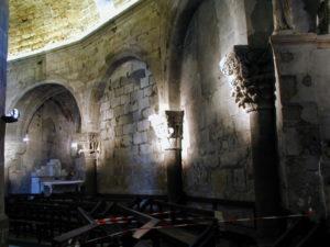 Rieux Minervoisの教会堂内部