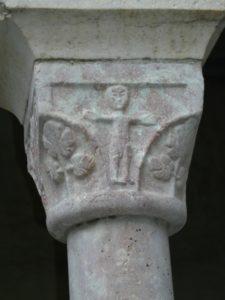 St.Genis des Fontainesの柱頭彫刻
