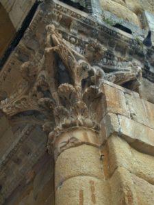 Alet les Bainsの柱頭彫刻