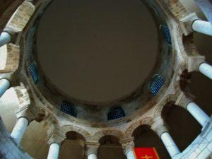 Neuvy St.Sepulcreの円堂内陣天井