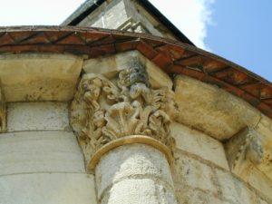 La Celle Bruereの持ち送り彫刻