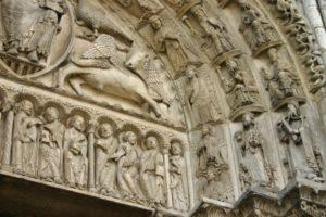 Chartres 中央扉口 タンパン