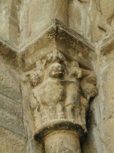 Santa Cruz de la Seros 柱頭彫刻