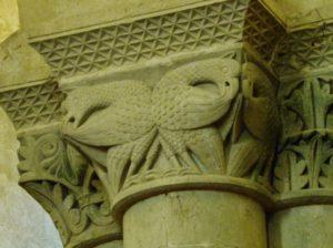 Aulnay 柱頭彫刻