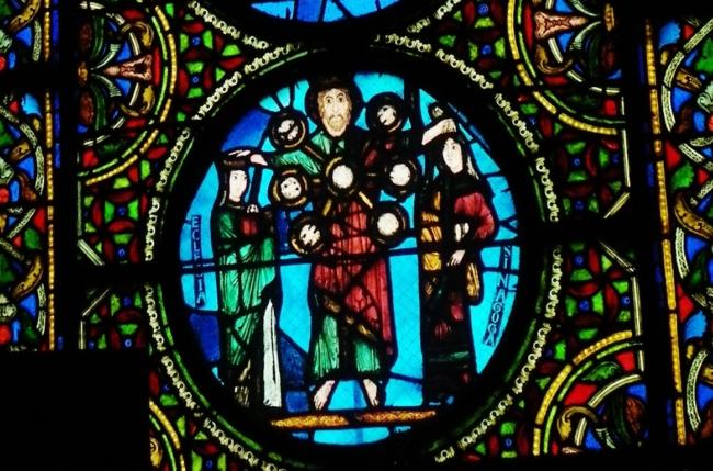 St.Denis 「キリスト教会とユダヤ教会との間に立つイエス」