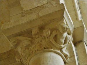 Caen / Le Trinite 柱頭彫刻