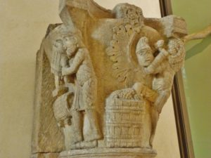 Moutiers St.Jean 柱頭彫刻 1125頃