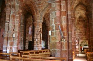 St.Privat d'Allier 側廊